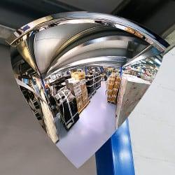 Miroir hémisphérique d'intérieur 90° Plexi+