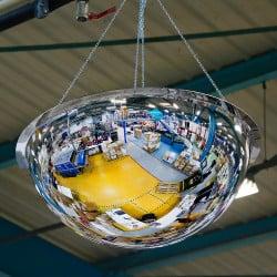 Miroir hémisphérique d'intérieur 360° Plexi+