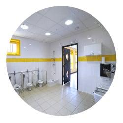 Miroir plat pour sanitaire - Modèle rond - Sans cadre - Plexi+