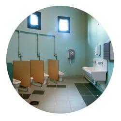 Miroir sanitaire plat Plexi+ - Sans cadre