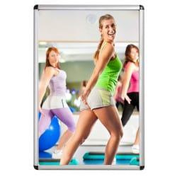 Miroir sanitaire plat Plexi+ - Cadre aluminium - 40 x 60 cm Salle de sport
