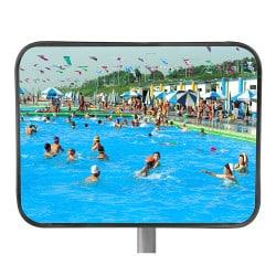 Miroir de surveillance piscine inox