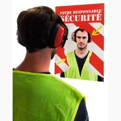 Miroir de sécurité et signalisation en entreprise personnalisable Plexi+