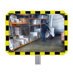 Miroir de sécurité pour entrepôt et logistique 90° Plexi+