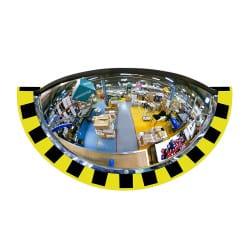 Demi miroir de sécurité pour entrepôt et logistique 180° Plexi+