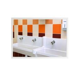Miroir plat pour sanitaire cadre MBF laqué blanc