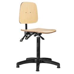 Siège technique bois avec mécanisme de fauteuil asynchrone
