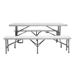Table pliante en polyéthylène rectangulaire