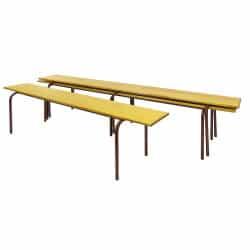 Banc empilable bois avec assise pleine