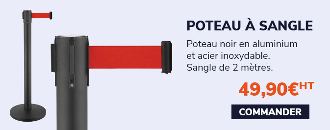 Poteau à sangle